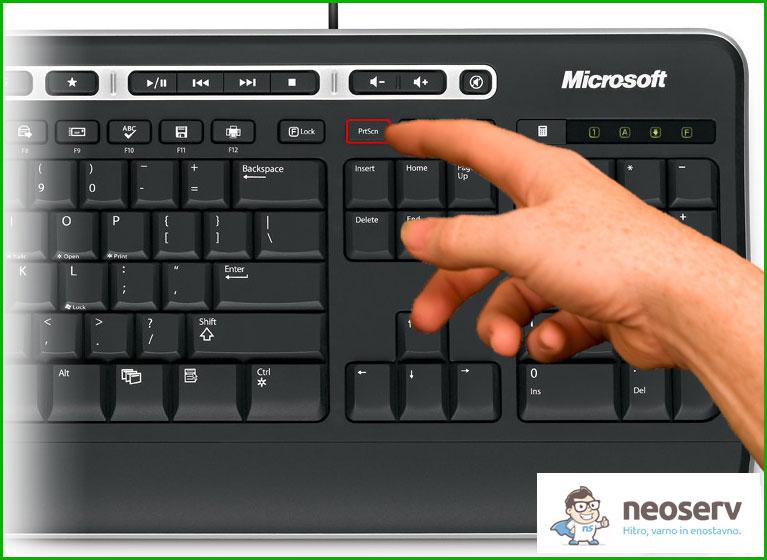 Kako naredim zajem zaslonske slike (Print Screen)? • NEOSERV si