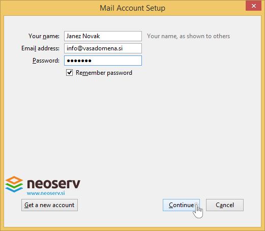 Mozilla-thunderbird-en-account-information