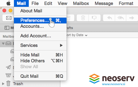Mac mail - preferences.