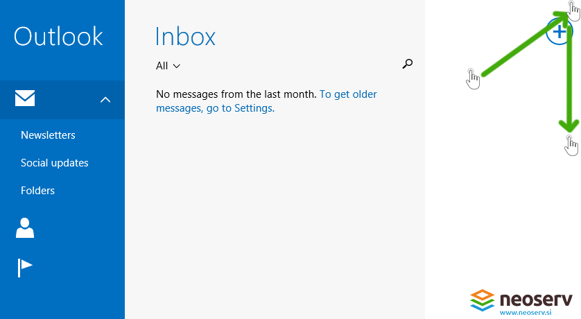 Window 8 Mail en - adding account.