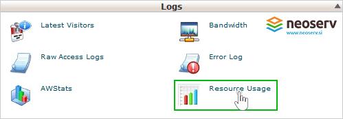 Gostovanje NEOSERV - cPanel - resource Usage