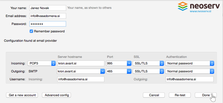 Thunderbird for Mac EN - pop with ssl sever and port config.