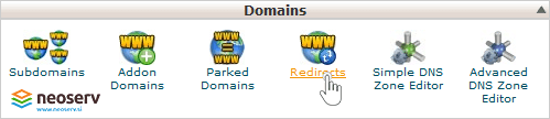 cPanel - Redirects