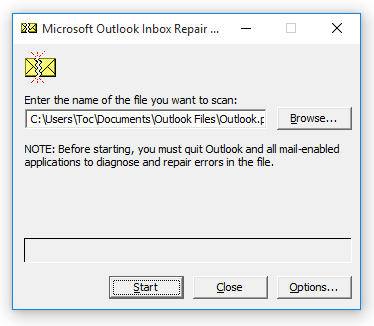 Outlook Inbox Repair - SCANPST.exe