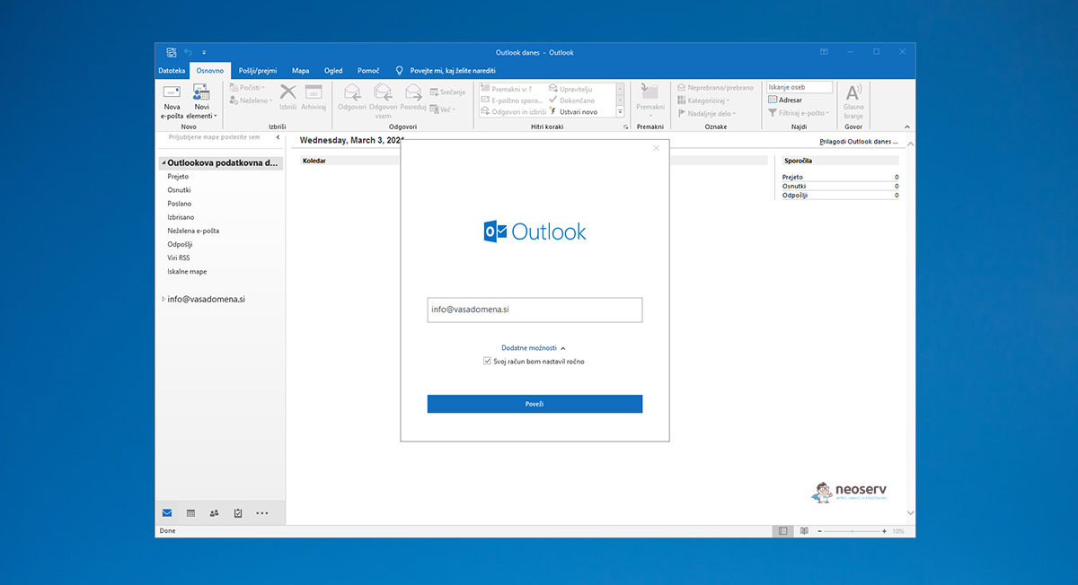 Outlook 2019 - e-mail naslov